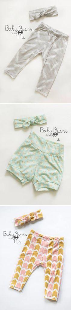 Baby leggings and shorts for summer. #leggings
