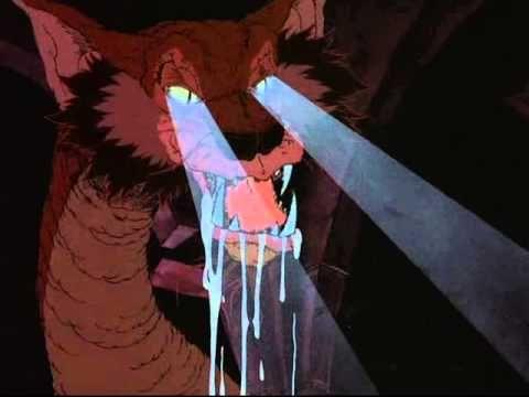 the Hobbit 1977 Cartoon: SMAUG smells BILBO w Richard Boone n Orson Bean hare clip