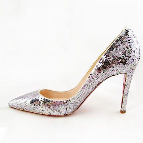 Christian Louboutin Glittered Pumps ❀ #www.shoeniverse.info