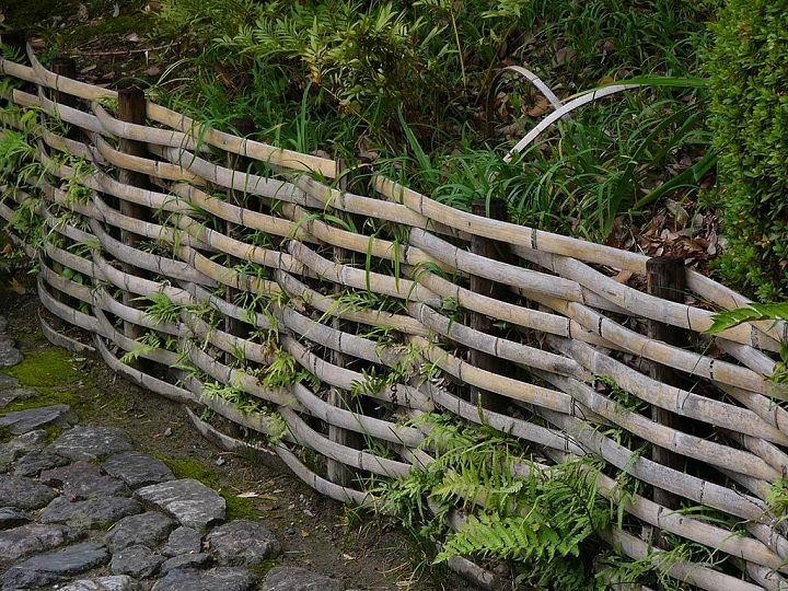 split bamboo fence