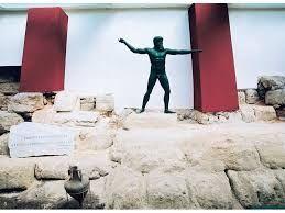 Το άγαλμα του Ποσειδώνα ? του Αρτεμισίου στο Αρχαιολογικό Μουσείο.