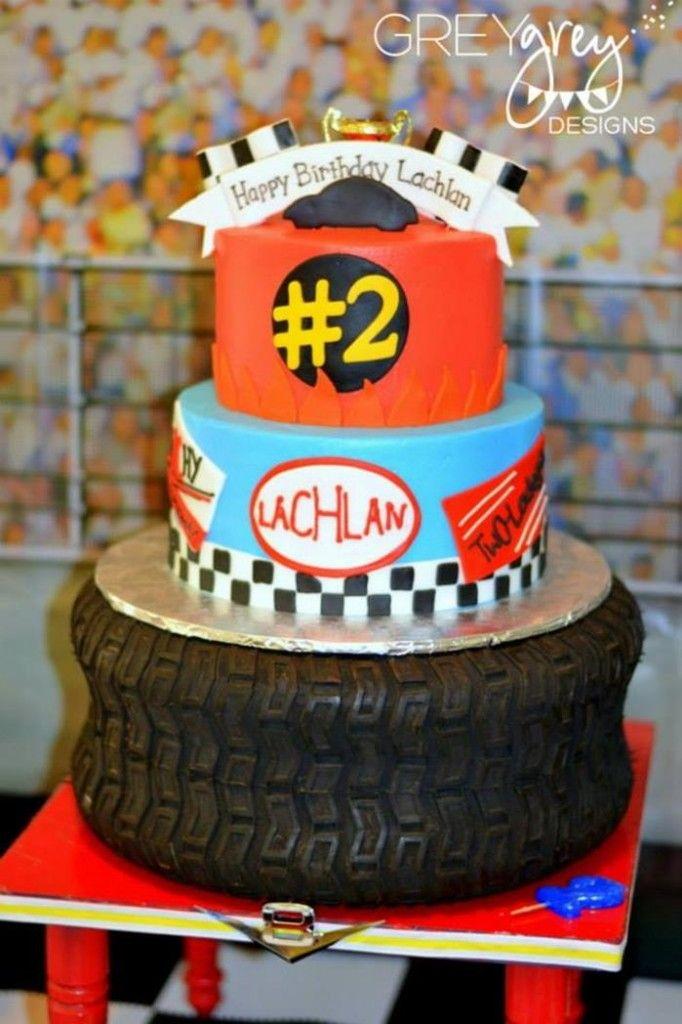 Amazing tire race car hot wheels cake