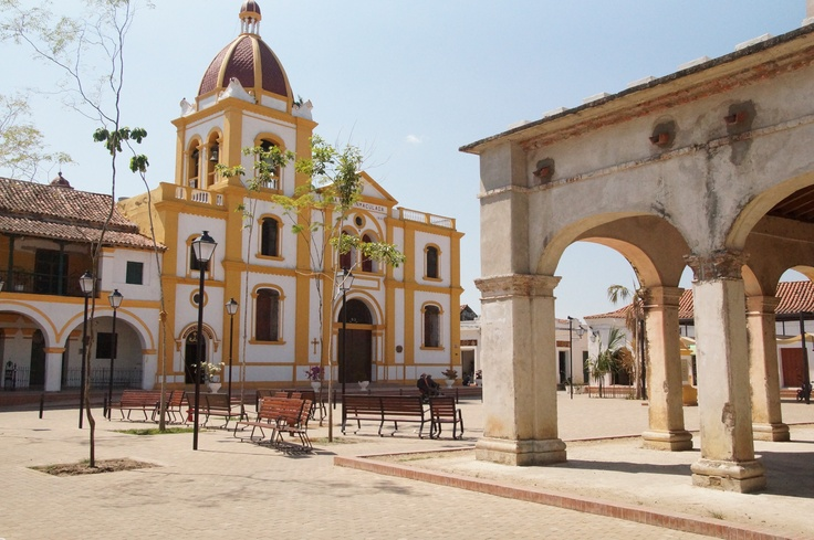 Church in Mompox in Colombia