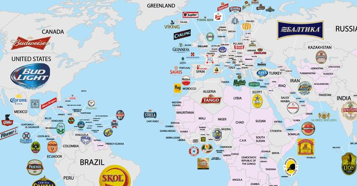 See the map of the most popular beer in every country in the world.