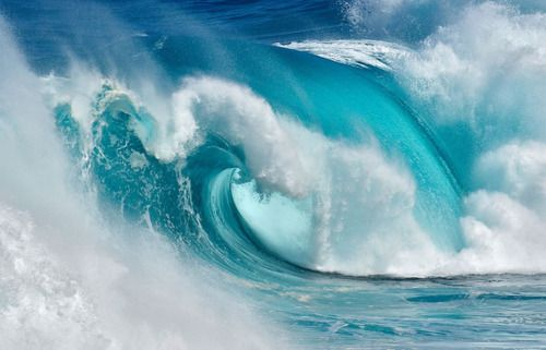 beautiful powerful thunderous waves! I could sit at the beach & watch waves all day...