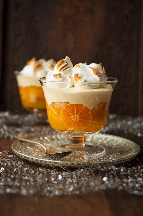 Para esta época invernal, prepara trifle de mandarina, una receta deliciosa.