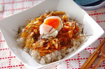 豚みそキムチ丼 Pork Miso Kimchee Don