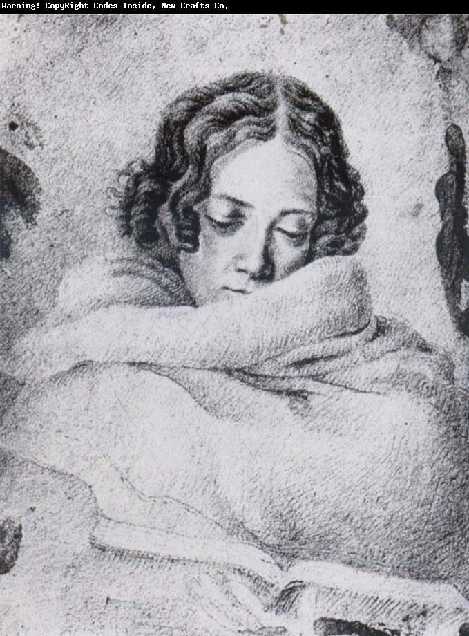 Ludwig Emil Grimm. Dessin de  Bettina von Arnim