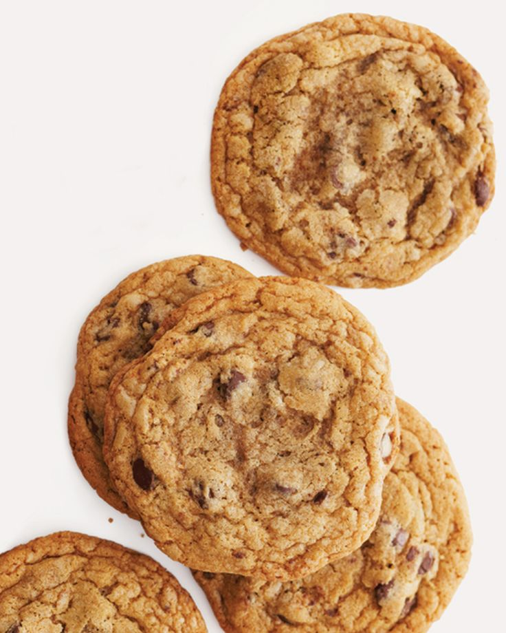 Cookie people take sides. You're either a soft-and-chewy fan or a lover of thin and crisp. But everyone goes for these chocolate chip treats. They're soft in the middle, slightly crunchy at the edges, and extra-big.