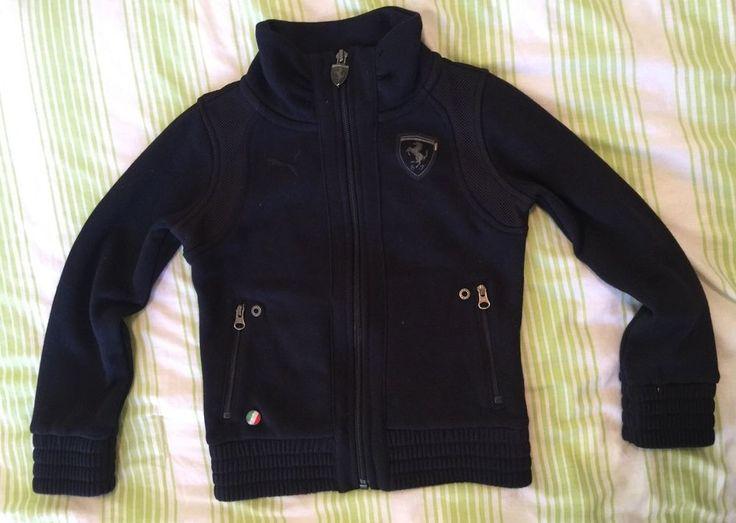 Youth Size 4T Puma Ferrari Racing Zip Up Sweat Shirt Sports Jacket Black  | eBay