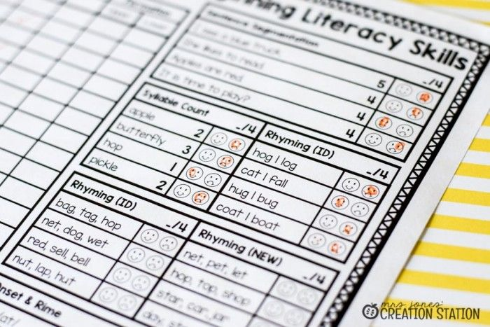 FREE Beginning Literacy Assessment for Pre-K and Kindergarten