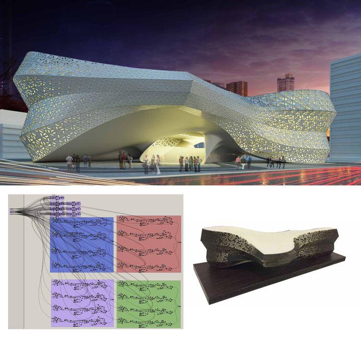 Image: James Chadud (Brazil) VI Edition students #parametricdesign #rhino3d #master #course #rhinoceros #grasshopper3d #revit #3Ddesign #3Dmodeling #architecture #nurbs #madrid #advanced