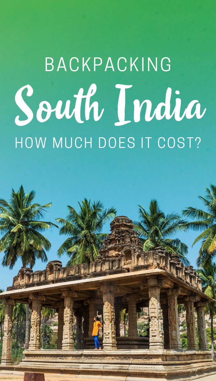 Thinking about traveling to South India soon? Here's a budget breakdown for how much it costs to go backpacking in South India. Click to see average daily costs by city, average costs for common expenses, recommendations for budget accommodation, and more.