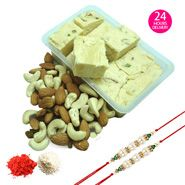 Rakhi With Sweets & Dry Fruits with Same Day Rakhi Delivery