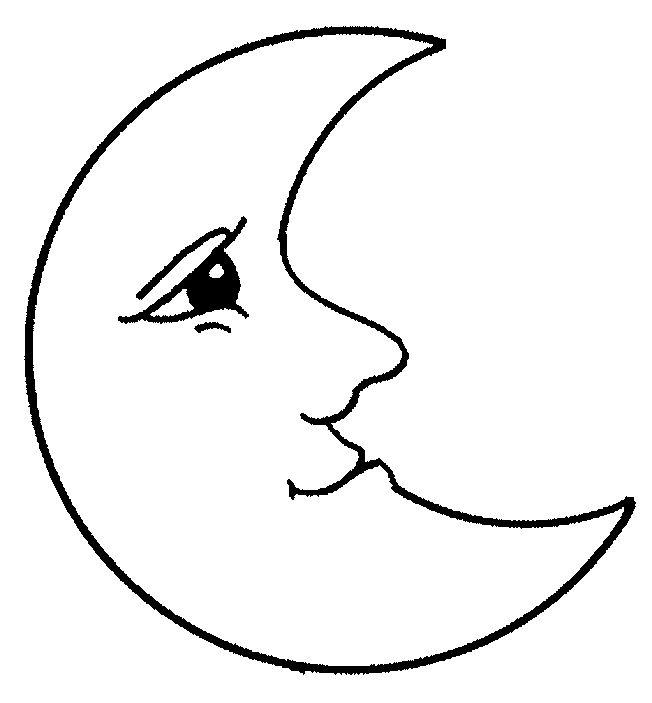 Luna para colorear Dibujos de lunas para imprimir y pintar | botitas ...