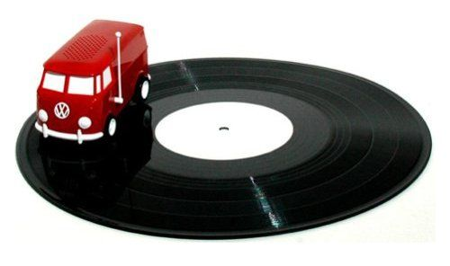 """The """"Soundwagon"""" is a portable record player shaped like a VW van. It drives around on the surface of an  album and the music comes out of its speaker! @Sarah Chintomby Chintomby Chintomby Chintomby Chintomby Jardine !!!"""