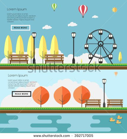 Flat design modern vector illustration icons set of urban landscape and city…