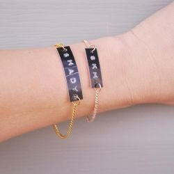 Make cute and quirky bracelets with your label maker!