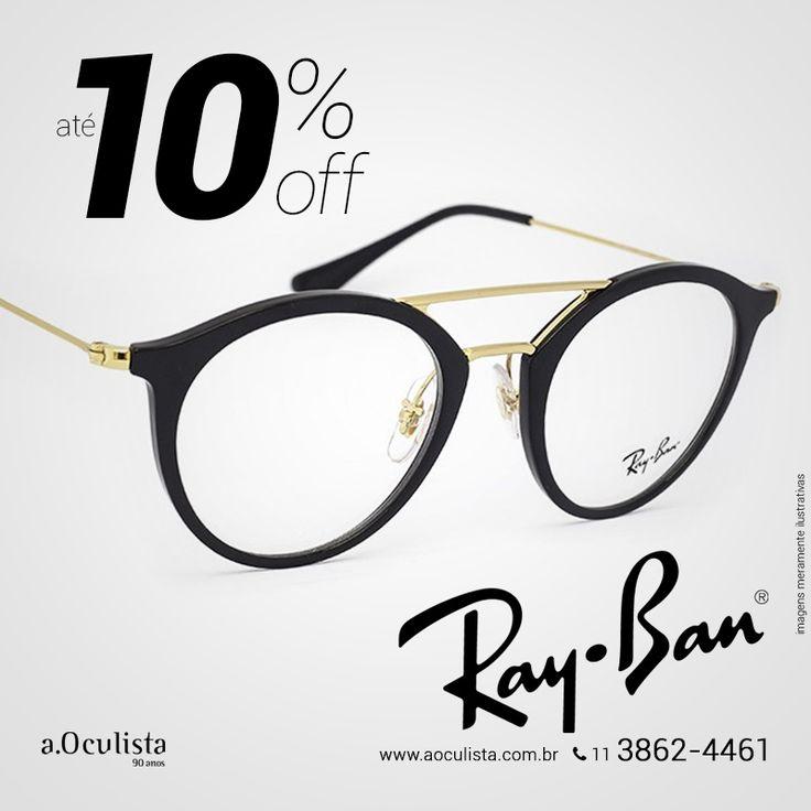 Óculos de Grau Ray Ban com até 10% com desconto, corre! Compre pelo site em até 10x Sem Juros e Frete Grátis nas compras acima de R$400,00 reais. Acesse: www.aoculista.com.br/ray-ban #aoculista #rayban #glasses #sunglasses #eyeglasses