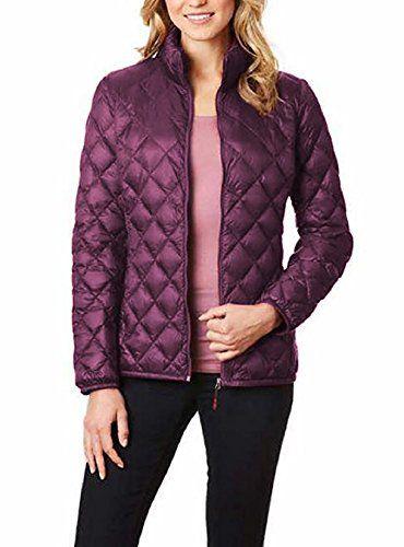 32 Degrees Heat Ladies' Packable Ultra Light Down Jacket, Purple-Medium