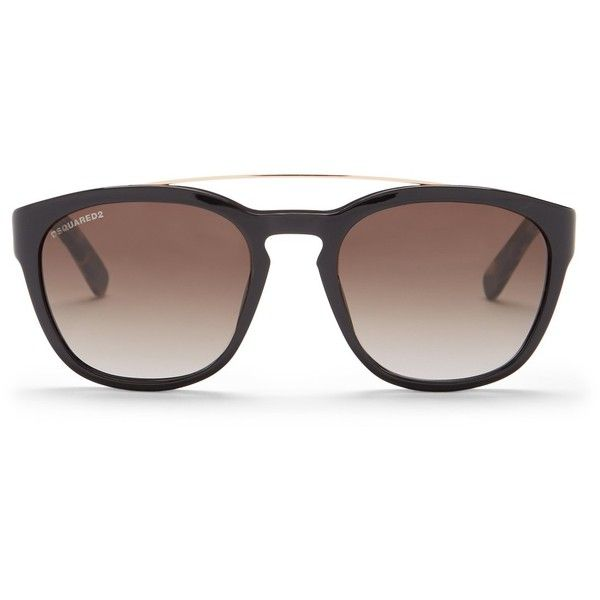 DSquared2 Women's Harry Browbridge Cat Eye Sunglasses ($120) ❤ liked on Polyvore featuring accessories, eyewear, sunglasses, cat eye sunnies, cat-eye glasses, gradient lens sunglasses, dsquared2 glasses and gradient glasses