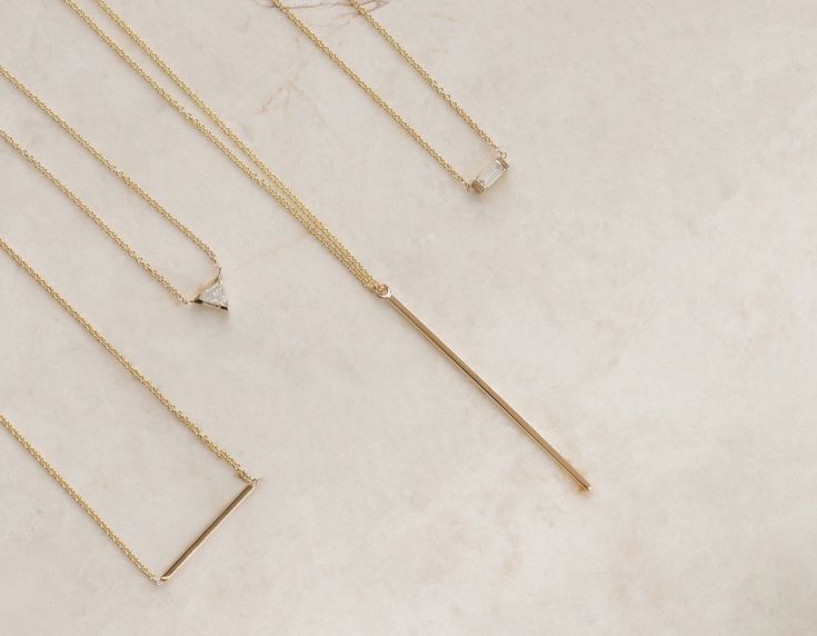Vertical Bar Necklace – Vrai & Oro