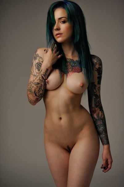 nude female fitness models with tatoos