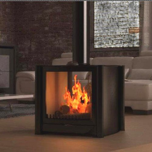 Firebelly Double Sided Wood Burning Stove From Fireplace Products