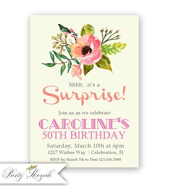 The 114 best surprise birthday party invitations images on pinterest 50th surprise birthday party invitations surprise party filmwisefo