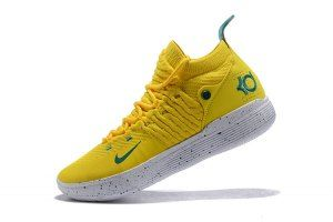 e748f134bde Men s Nike Zoom KD 11 EP Bright Yellow Storm Team boys Basketball Shoes
