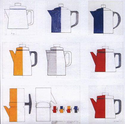 Enamel coffee pot Pehtoori Finel by Antti Nurmesniemi