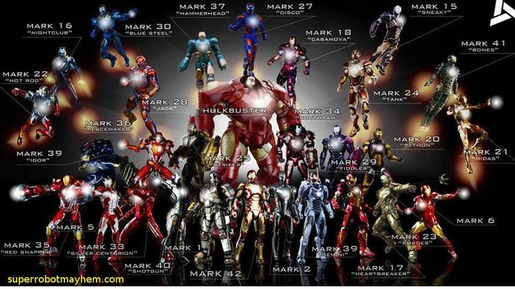 Hot Toys Iron Man series including Avengers 2 Hulk Buster
