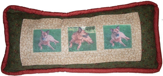 Custom Dog Pillow 10 x 20 Remembrance Pillow by hbd8008 on Etsy, $100.00