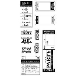 Inkadinkado Clear Stamps - Paperwork Greetings,$9.99