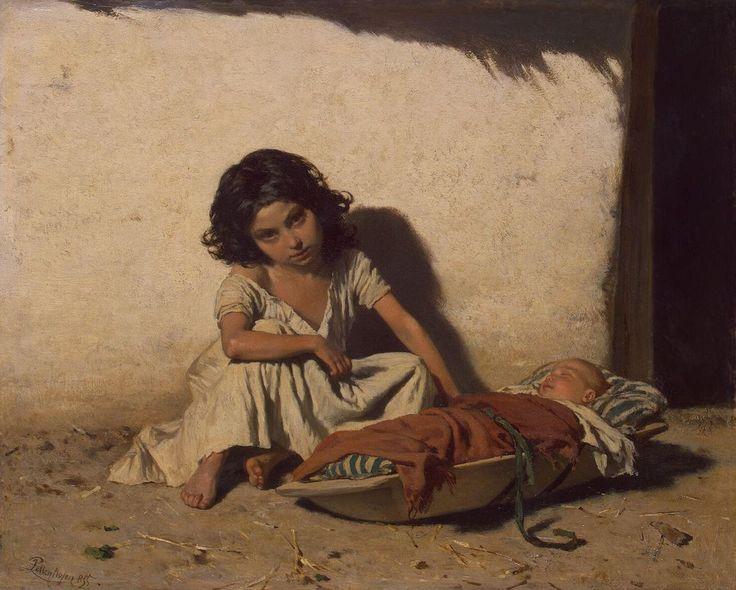 August von Pettenkofen - Zigeunerkinder (1855).jpg