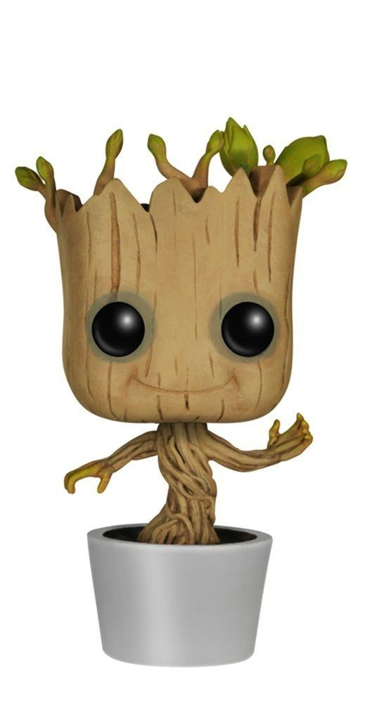 Dancing bobblehead Groot from Guardians of the Galaxy.