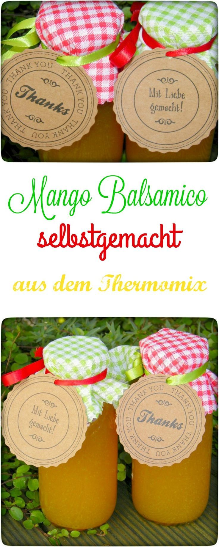 Ich kaufe definitiv keinen Mango-Balsamico mehr (15 € für eine kleine Flasche ist schon ein stolzer Preis). Denn im Handumdrehen hat man diesen leckeren und fruchtigen Mango-Balsamico selber hergestellt. Dieser verfeinert Euch viele Salate und Ihr habt einmal einen etwas anderen Geschmack als nur 0815 Essig. Im Thermomix oder auch in anderen Küchenmaschinen oder auf dem Herd sehr einfach herzustellen.