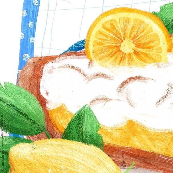 lemon pie by Sofia Cardoso #illustration #kidlitart
