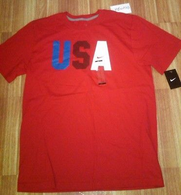 New Mens Nike Team USA 2016 Olympic FIFA World Cup soccer t-shirt  L