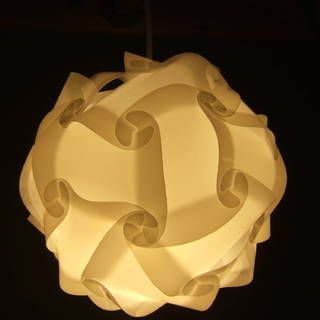 Universal lamp shade polygon building kit. Template for cutting your own plastic pieces