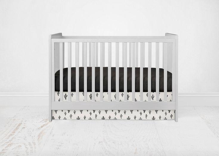 Straight Crib Skirt - Cactus - Black. Southwest Baby Bedding. Cactus Crib Bedding. Aztec Crib Skirt. Black Crib Skirt. Cactus Crib Skirt. by SuiteBaby on Etsy https://www.etsy.com/listing/526093853/straight-crib-skirt-cactus-black