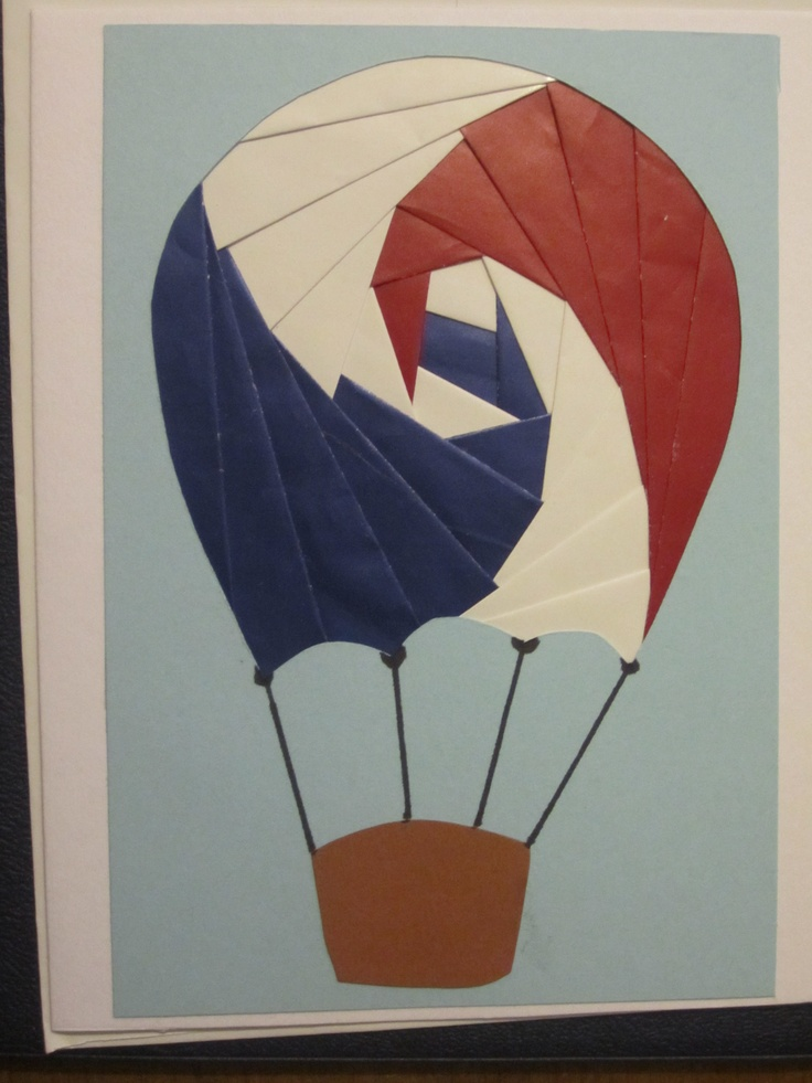 Iris Paper Folding Hot Air Balloon  www.caguimbalcreations.weebly.com