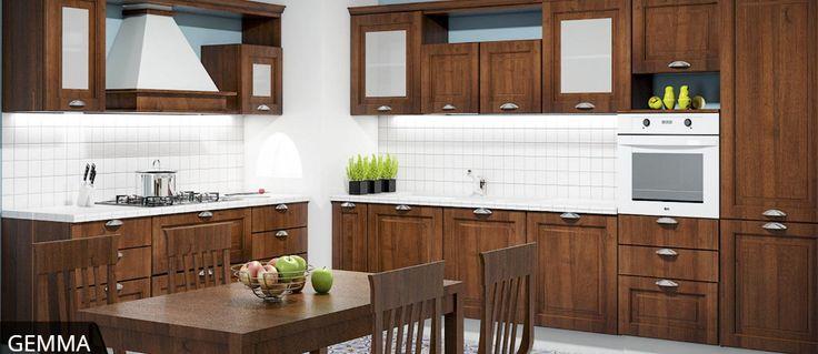 Gemma è la linea di cucine di design realizzata da Mobitaly dove tradizione e innovazione trovano spazio per creare un'ambiente funzionale, famigliare e accogliente