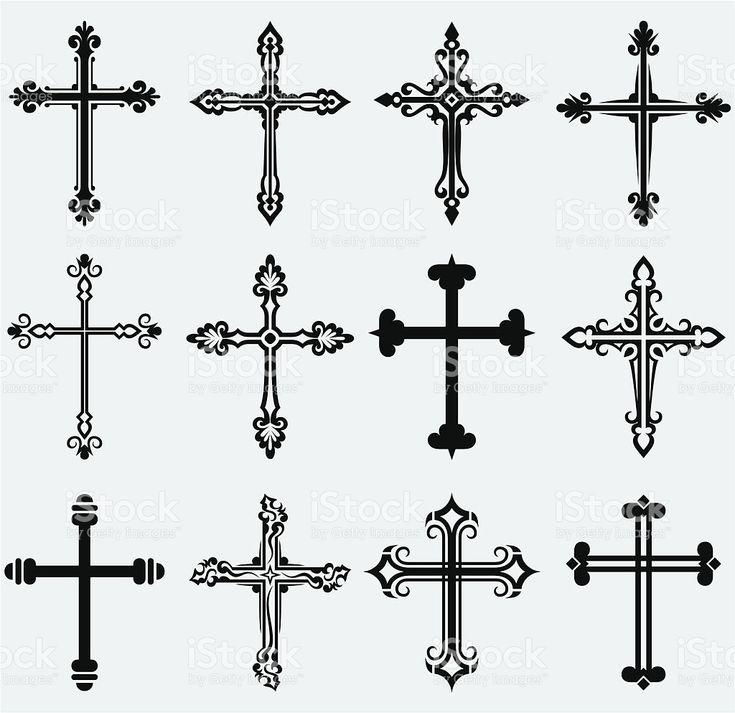 Religious cross royalty-free stock vector art
