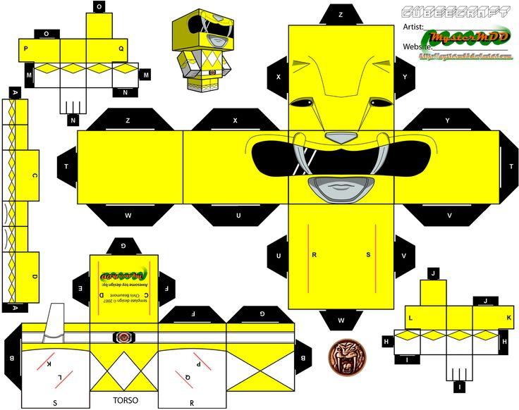 Yellow Power Ranger Cubee