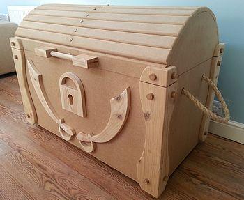 Деревянный пиратский сундук с сокровищами Toy Box
