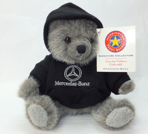 Mercedes benz herrington teddy bear gray with hoodie plush for Mercedes benz bear