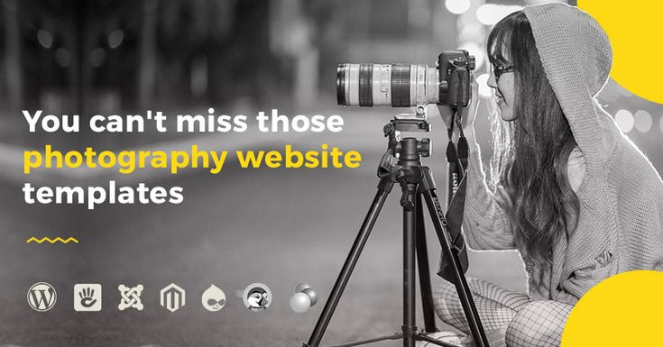 Take a look at the list of seven website templates you should consider when designing your online portfolio. Discover some of the best website themes created for people in love with photography.  #photos #photography #website #theme #template #website #portfolio #Joomla #wordpress