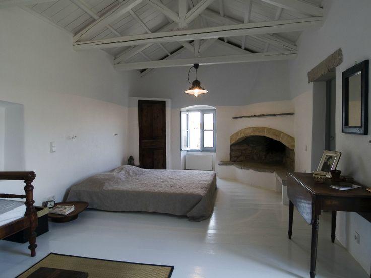Master Bedroom at Villa Ariadni in Kithyra; http://instylevillas.net/property/ariadni-villla-kythira/