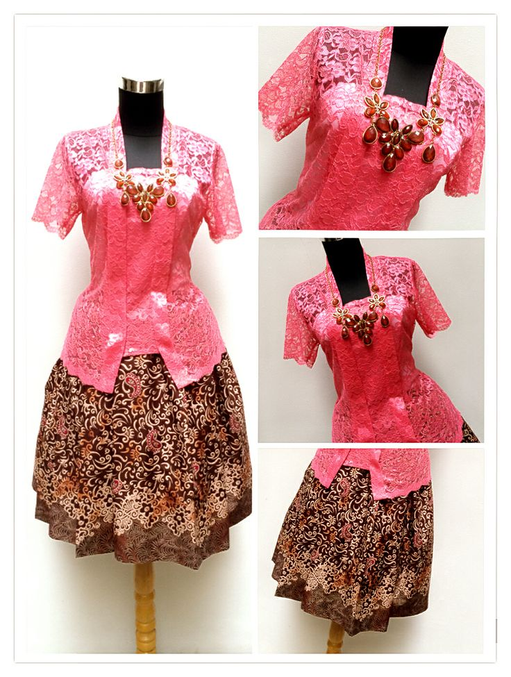 Authentic Kebaya Kutubaru Batik Skirt with tille  Made by Order